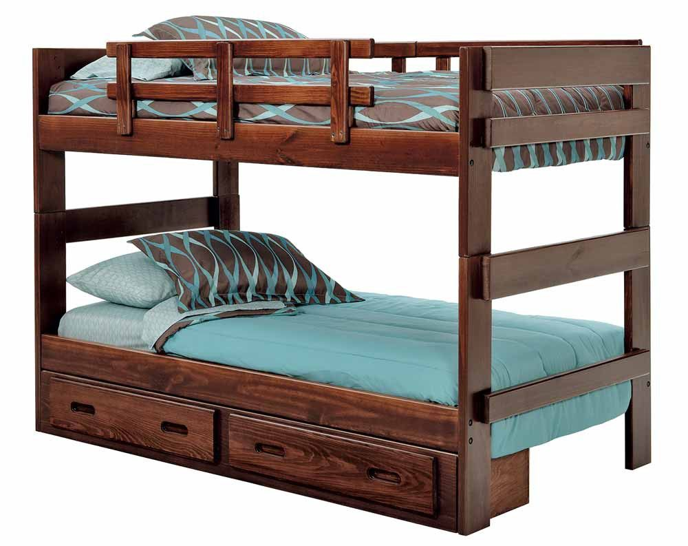 Chocolate Heartland 2 x 6 Split Bunk Bed | American Freight