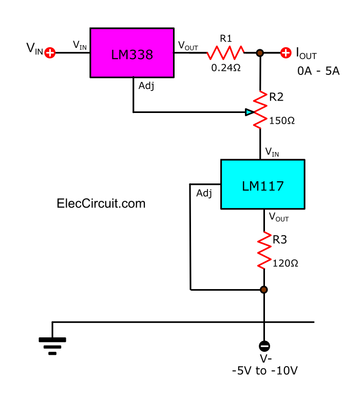 Lm338 Datasheet Adjustable Power Supply 5a And 10a Elec Circuit In 2020 Power Supply Circuit Power