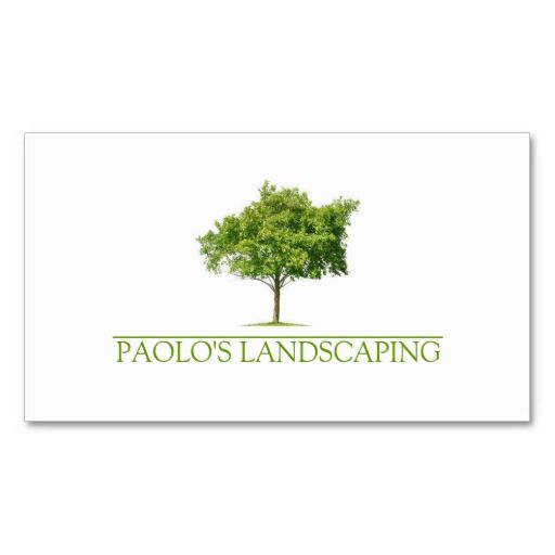 Green Clean Tree Landscaping Business Card Zazzle Com Landscaping Business Cards Landscaping Business Business Card Template