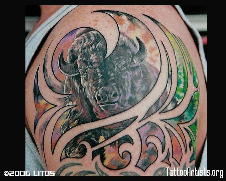 Buffalo Tattoo Best 3d Tattoo Ideas Art Tattoo Buffalo Tattoo 3d Tattoo