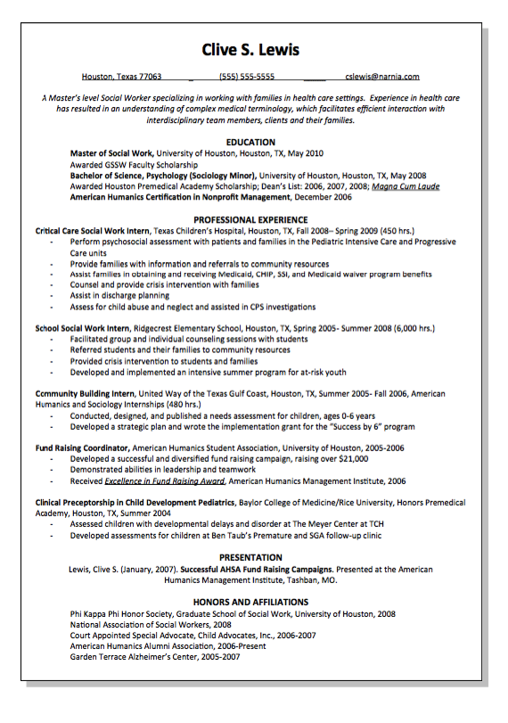 Clinical Preceptorship Resume Sample - http://resumesdesign.com ...
