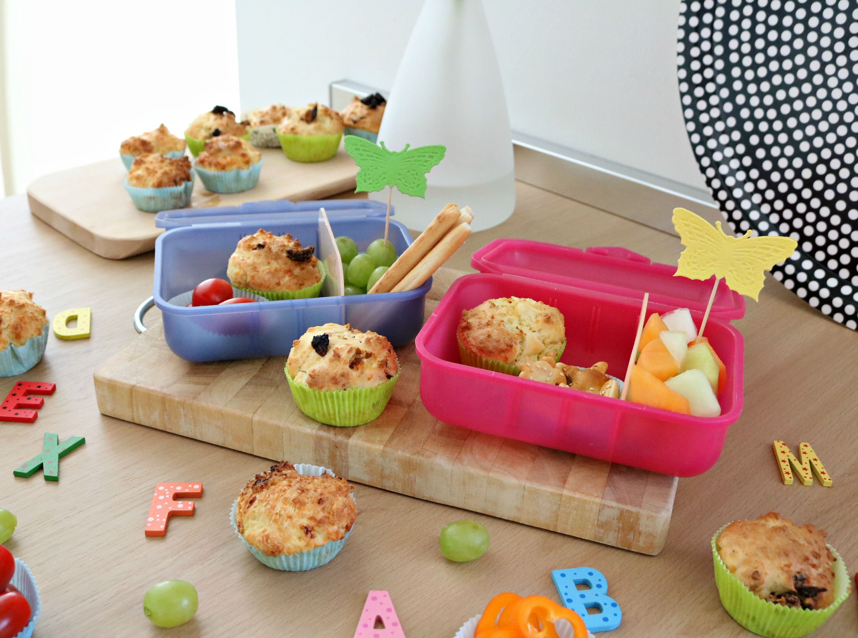 Food Back To School Käsemuffins Für Die Lunchbox Mit