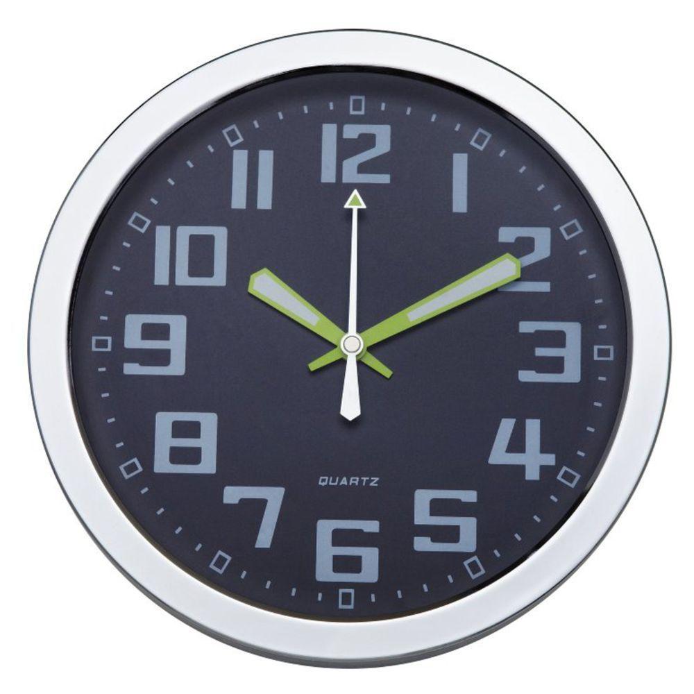 Metal Wall Clock with Glass Dial Quartz Metal wall clock