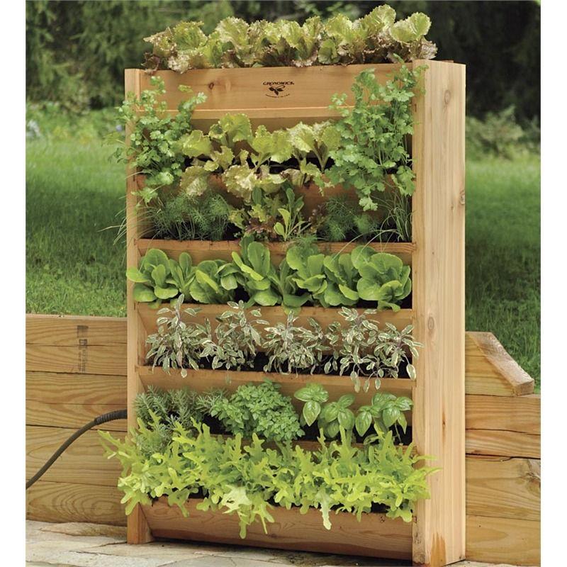 Cedar Vertical Garden With Irrigation System   Raised Beds