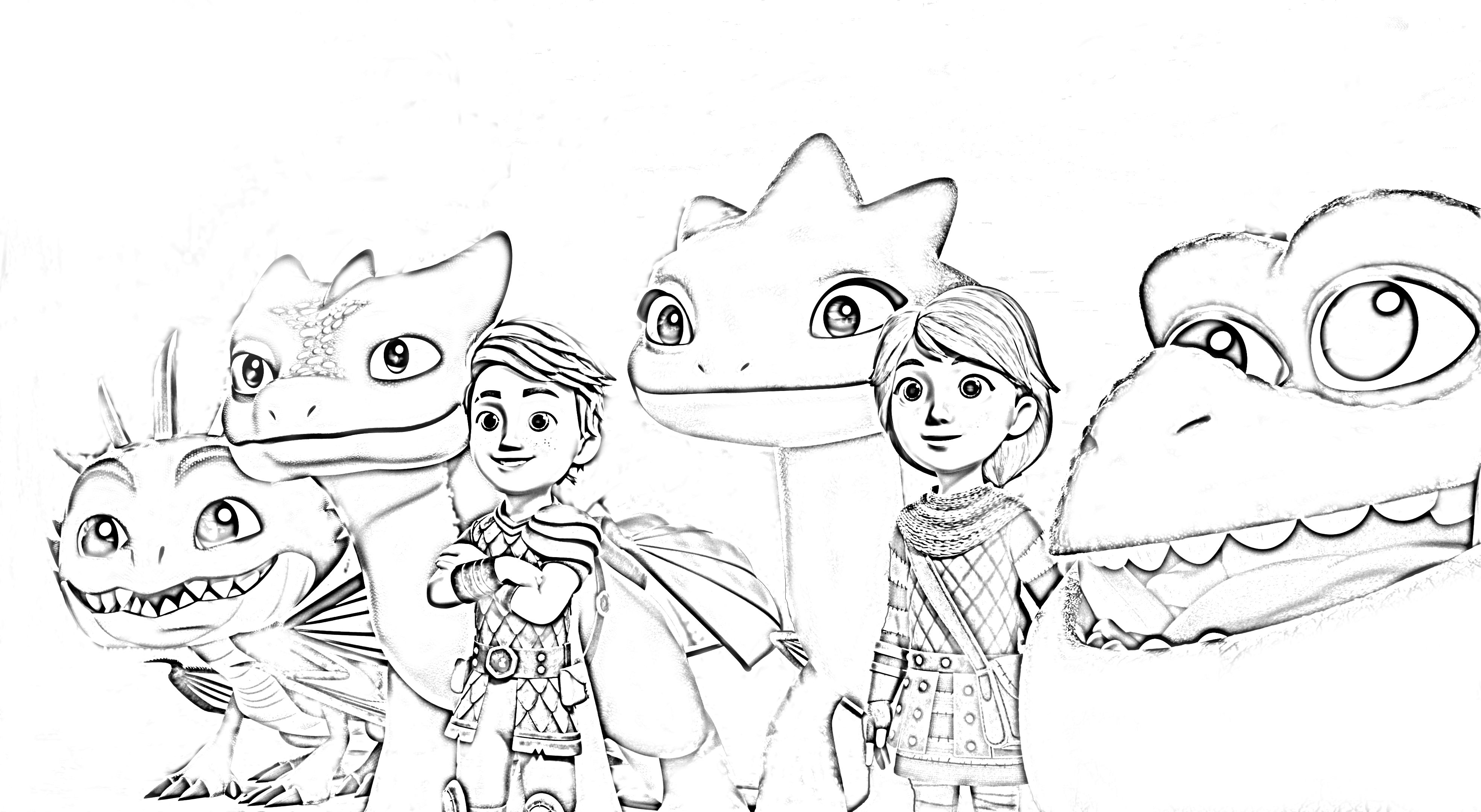 Dragons Rescue Riders Coloring Page From Dreamworks Netflix