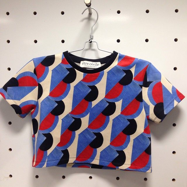 """""""#ELLEfashioncupboard #firstlook This @etre_cecile crop top hits the nautical trend in a major way."""""""