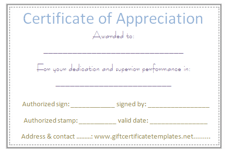 Dots Border Certificate Of Appreciation Template  Certificate Of
