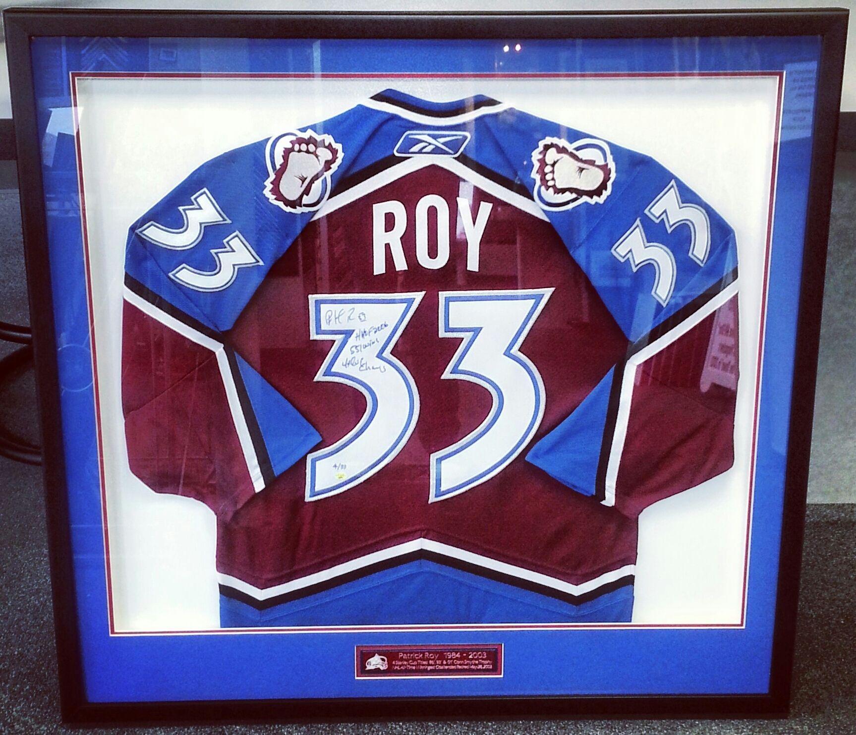 Custom framed Patrick Roy authentic Colorado Avalanche hockey jersey ... b78c85bc3