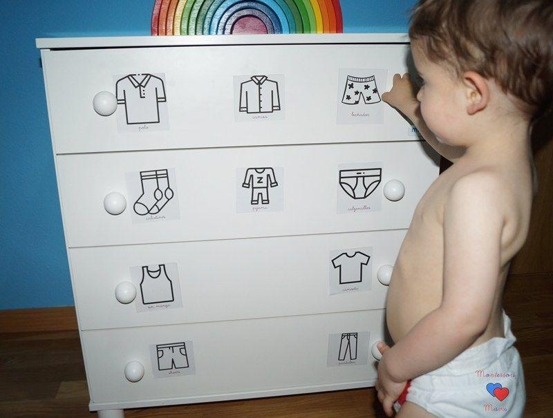 Organizar la ropa al estilo Montessori + Imprimible etiquetas – Montessori Mami