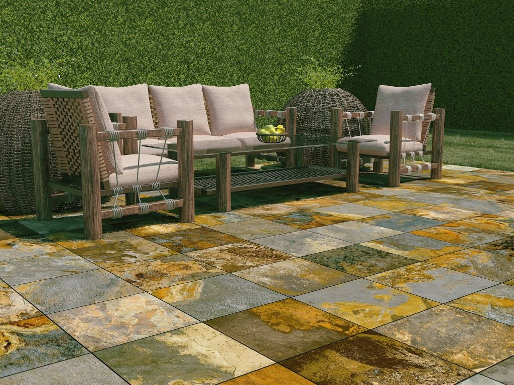 Interceramic slate supremo patios pinterest for Azulejos para patios exteriores