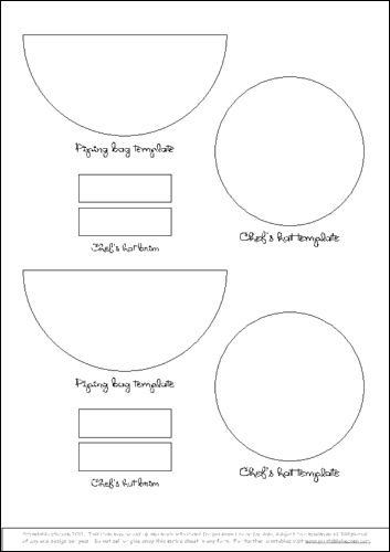 chef hat template printable - boy chef hat pattern free yahoo search results sewing