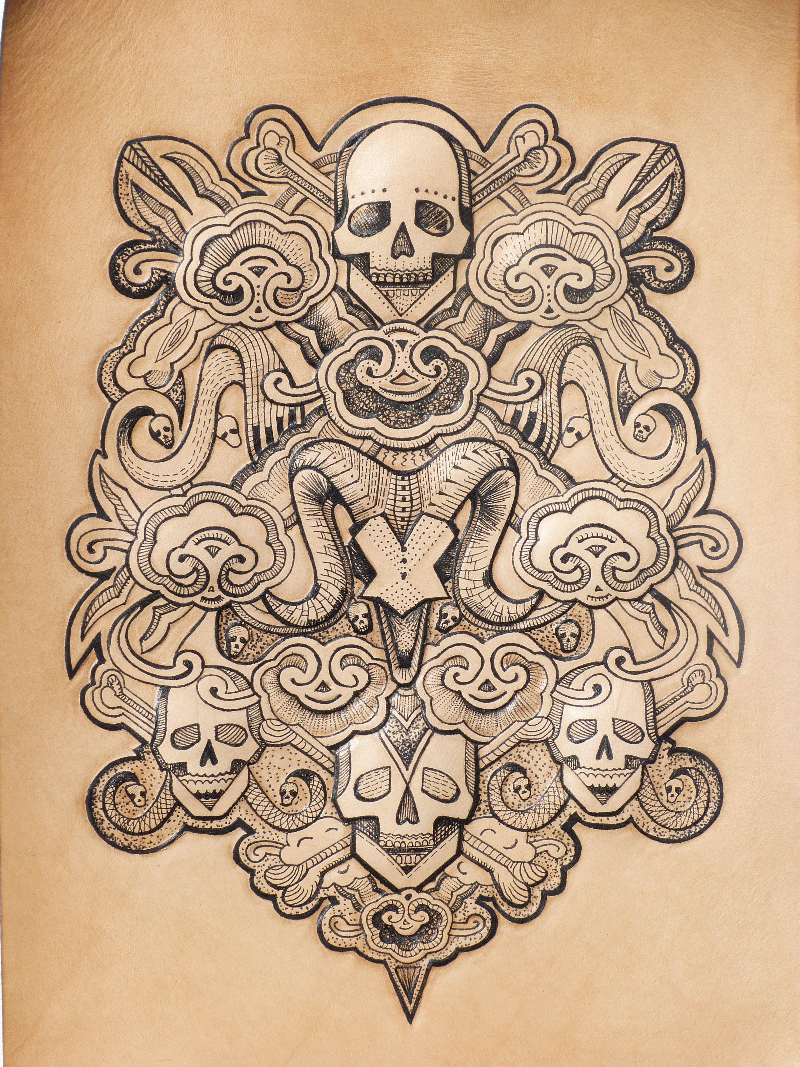 Tattooed Skull Bones By Punctured Artefact Http Www Etsy Com Shop Puncturedartefact Skull Skull And Bones Sacred Geometry Illustration