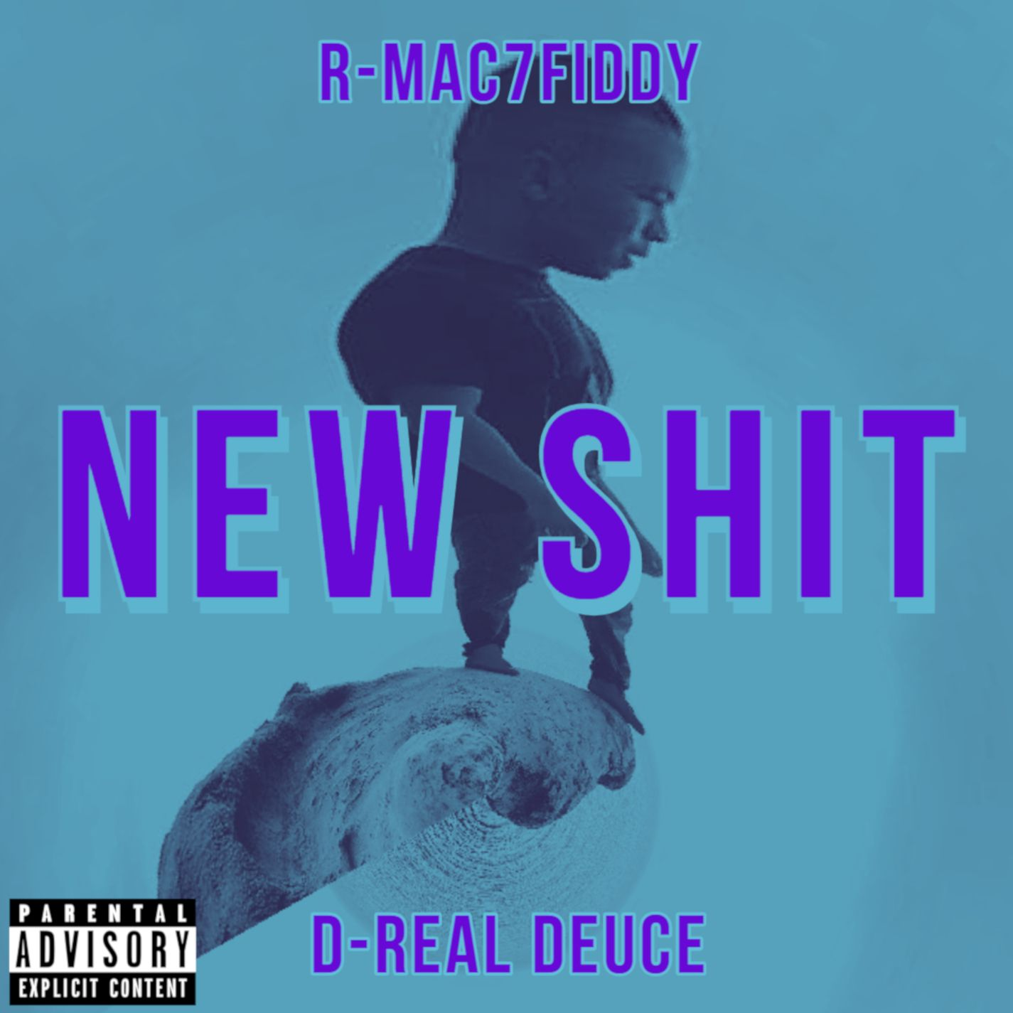Cover Art for my single NewShit Ft. D Real Cover art
