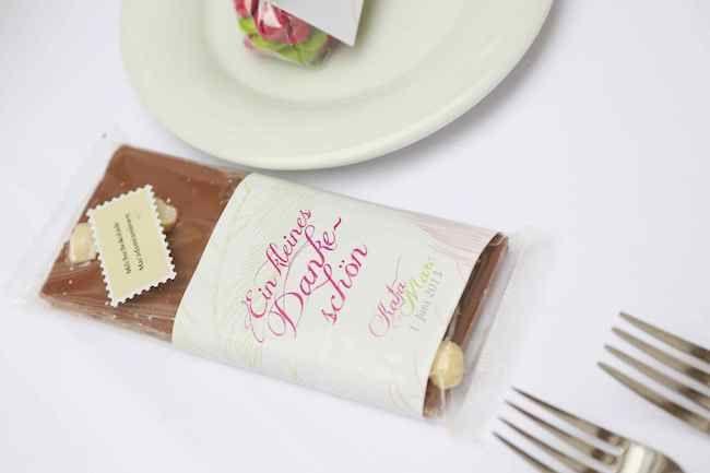 11 Gastgeschenk Manschette Schokolade Hochzeit Sachen