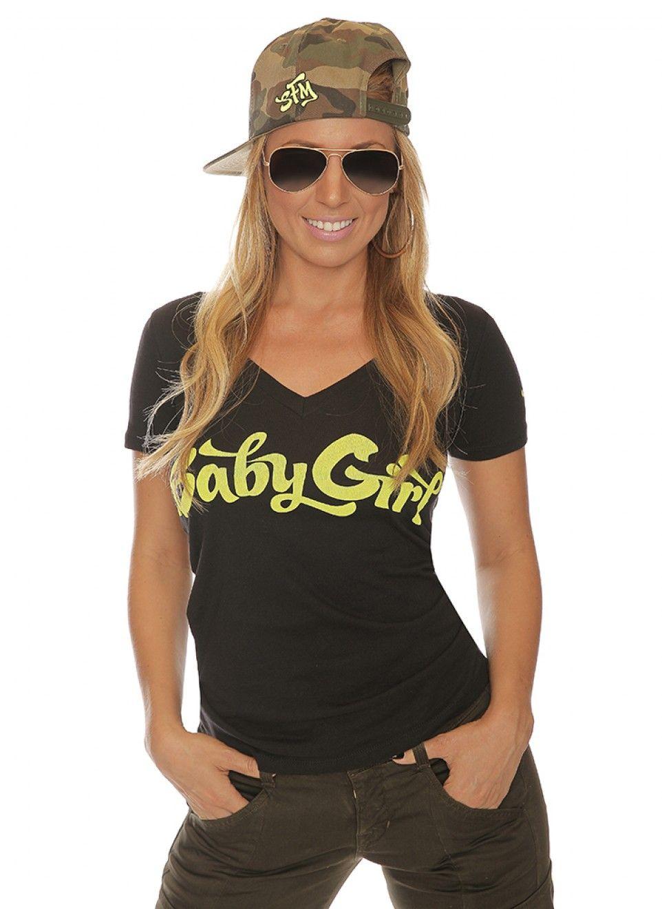 e99f81349e74 Baby Girl V-Neck Women s Shirt Black Green