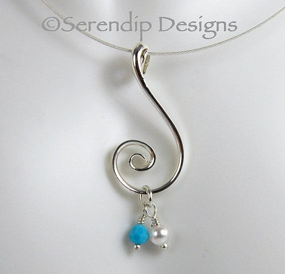 82717382518f1 Silver Spiral Couple's Pendant with Two Swarovski Crystal Birthstone ...