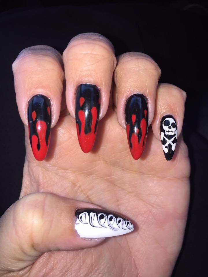 Pin On Halloween Nail Art