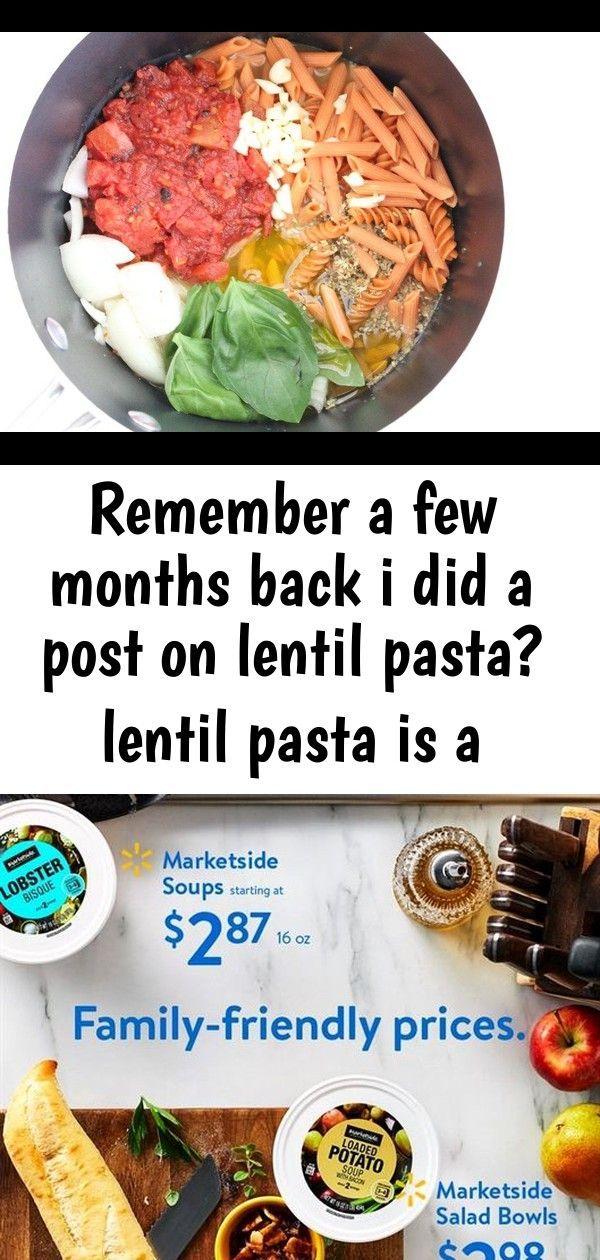 Remember a few months back i did a post on lentil pasta