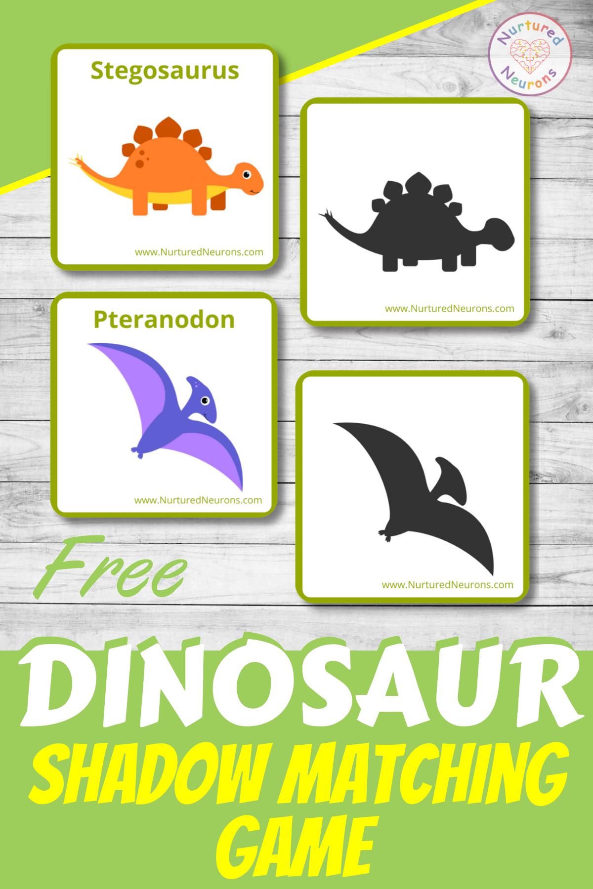 Dinosaur Shadow Matching Game Free Printable