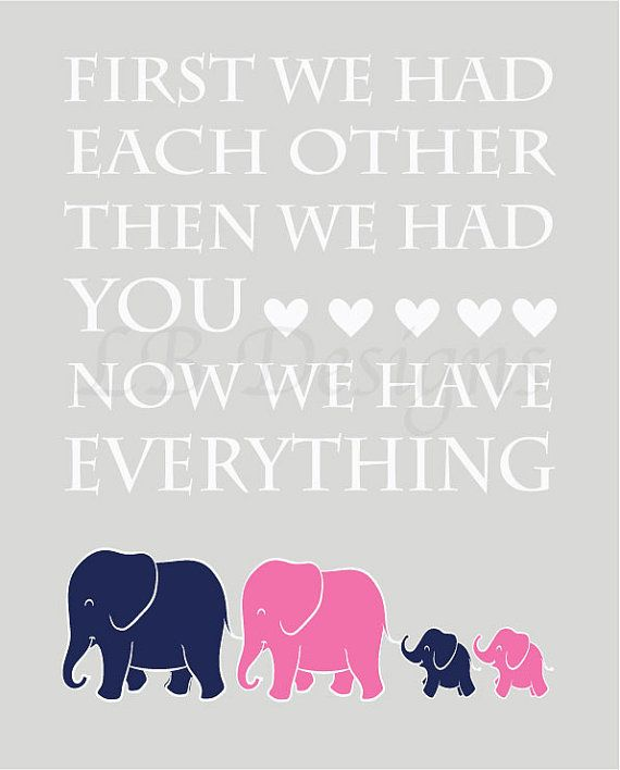 Elephant Twin Nursery Wall Art Nursery Room Decor For Twins: Twin Nursery Decor, Elephant Nursery Print, Gender Neutral