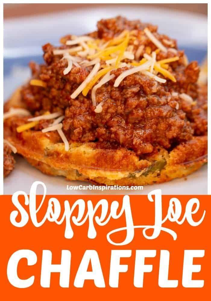 Keto Sloppy Joe Chaffle Recipe with cornbread recipe