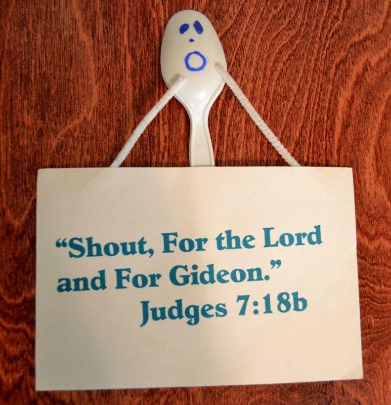 Bible Class Creations: Gideon\'s 300 Chosen Men   Bible story craft ...