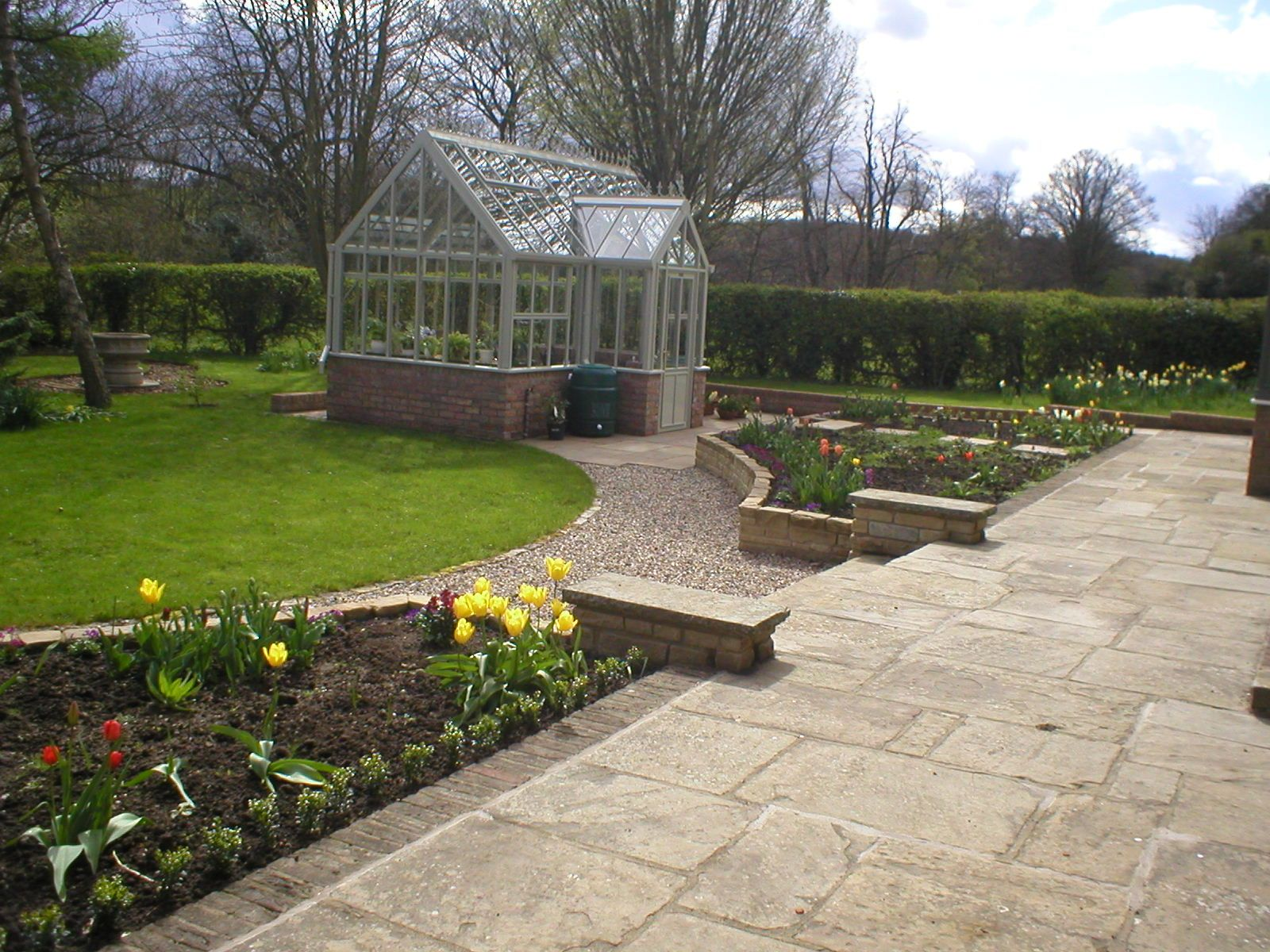 one of our gardens in knaresborough yorkstone stone walling garden design - Garden Design Knaresborough
