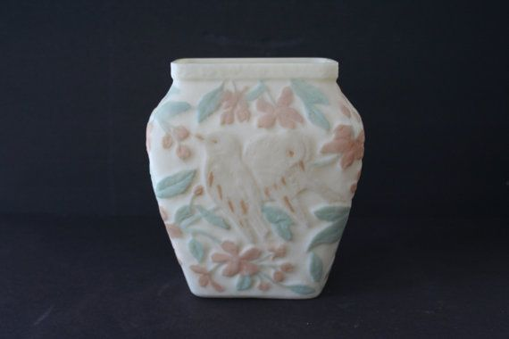 Consolidated Glass Martele Bird Vase Phoenix Glass Martele Bird