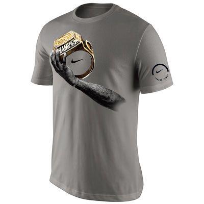 huge discount e7822 07ef0 Men's LeBron James Nike Gray Champions Celebration T-Shirt ...