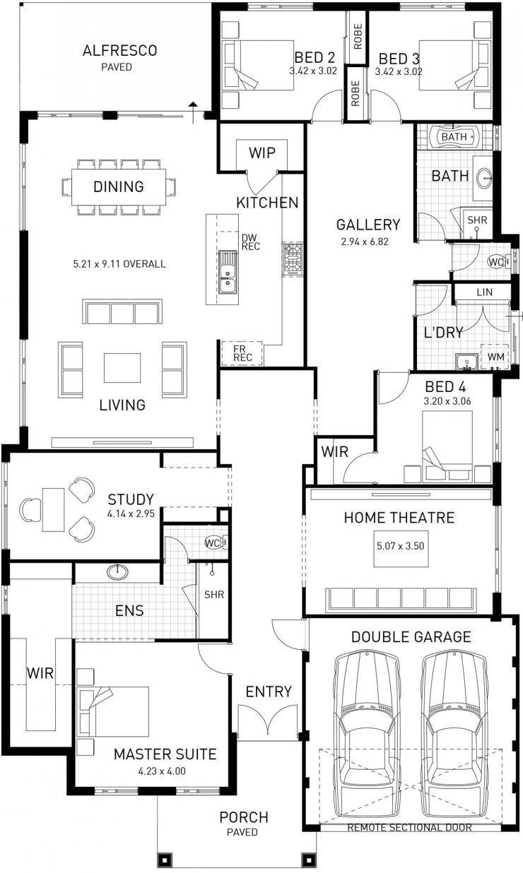 New Hampton Single Storey Home Design Master Floor Plan Wa New House Plans Dream House Plans Storey Homes