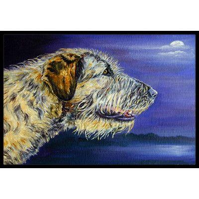 "Caroline's Treasures Irish Wolfhound Looking Doormat Rug Size: 1'6"" x 2'3"""