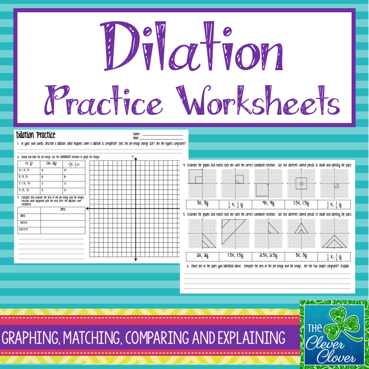 Dilation Worksheets Print And Digital Google Slides Teaching Geometry Dilations Middle School Math