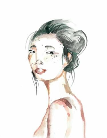 Pin On Japanese Girl Watercolor