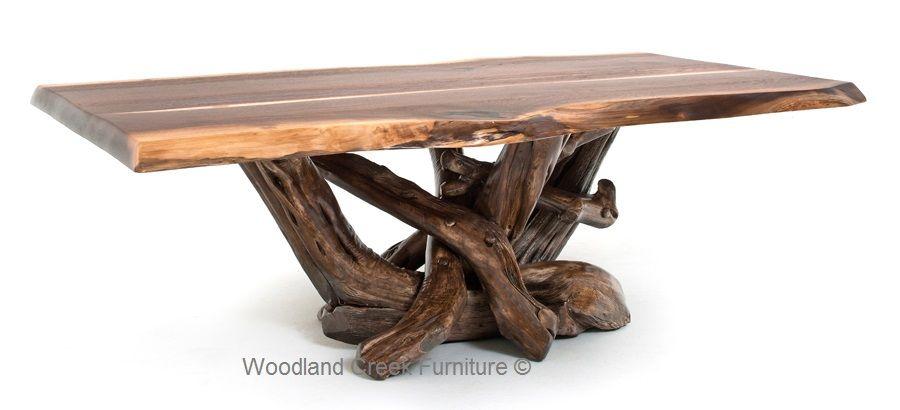 Rustic Black Walnut Coffee Table Log Cabin Coffee Table Walnut