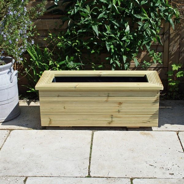 0.9m x 0.4m - Rectangular Wooden Garden Planter - Wooden Garden Planters - 0.9m X 0.4m - Rectangular Wooden Garden Planter - Wooden Garden
