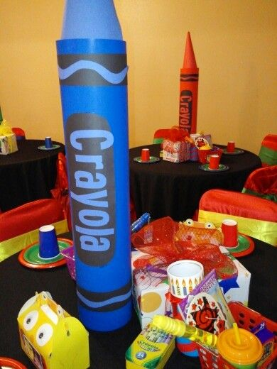 Crayola Party Centerpieces Crayola Quot Colorific Quot Party In