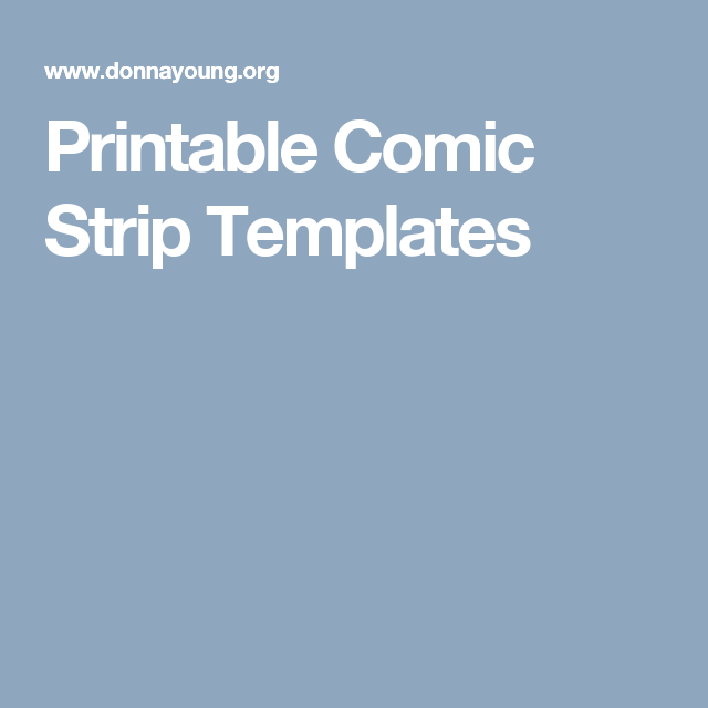 Printable Comic Strip Templates  Creative Expressions