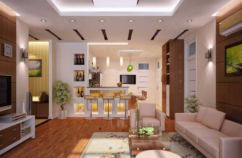 Open kitchen living room design house decorating ideas for Living area decoration