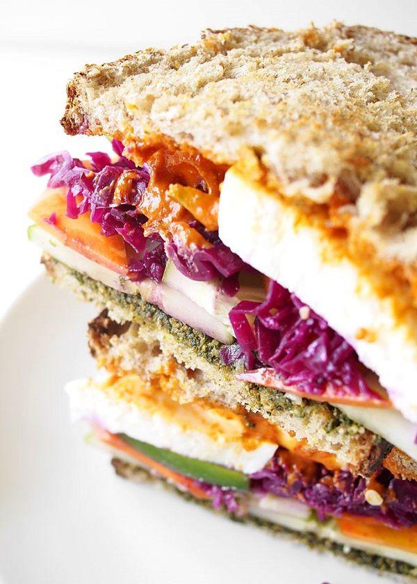 Epic veggie sandwich with sauerkraut