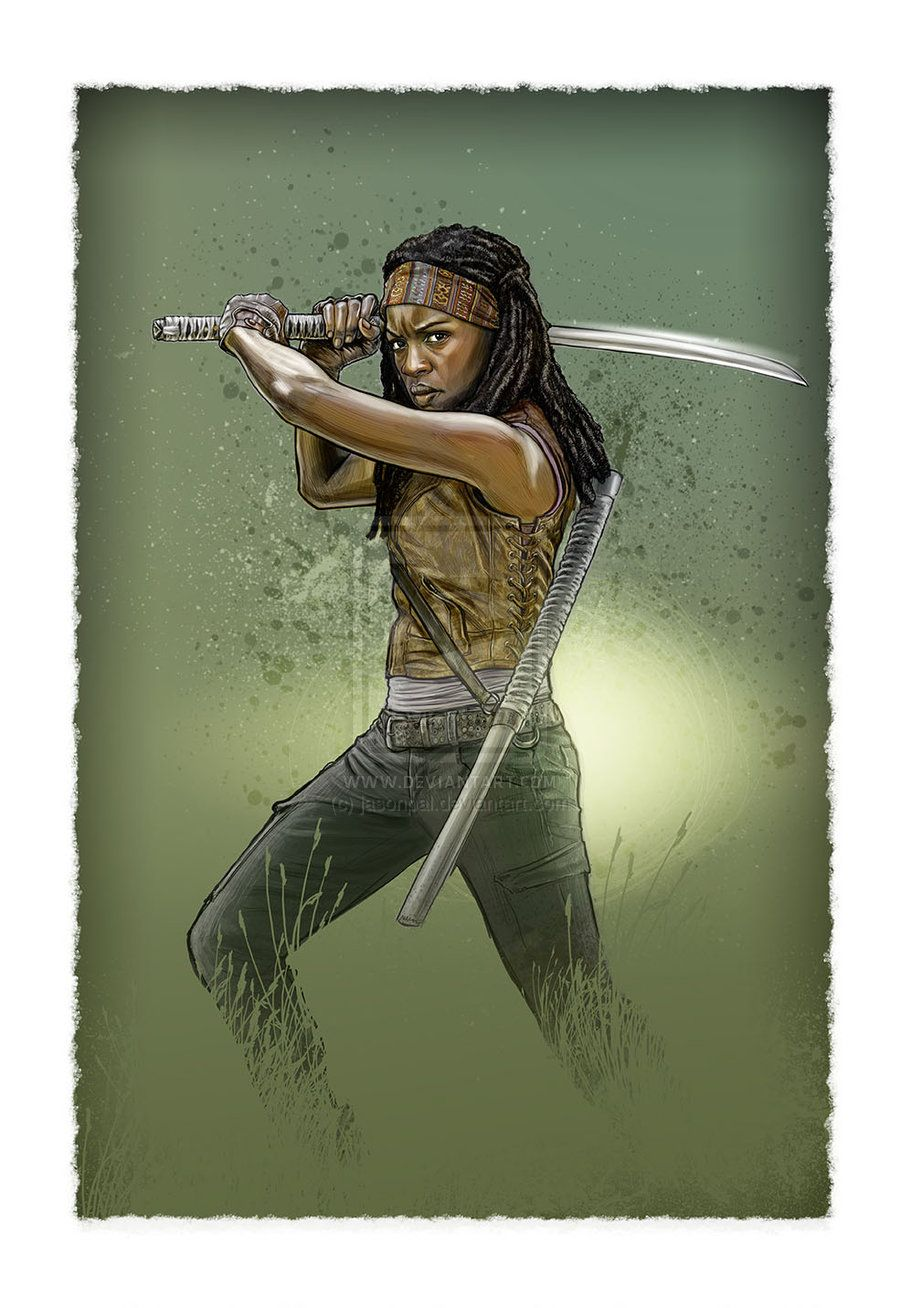 Michonne by *jasonpal on deviantART - digital painting #TheWalkingDead #Art