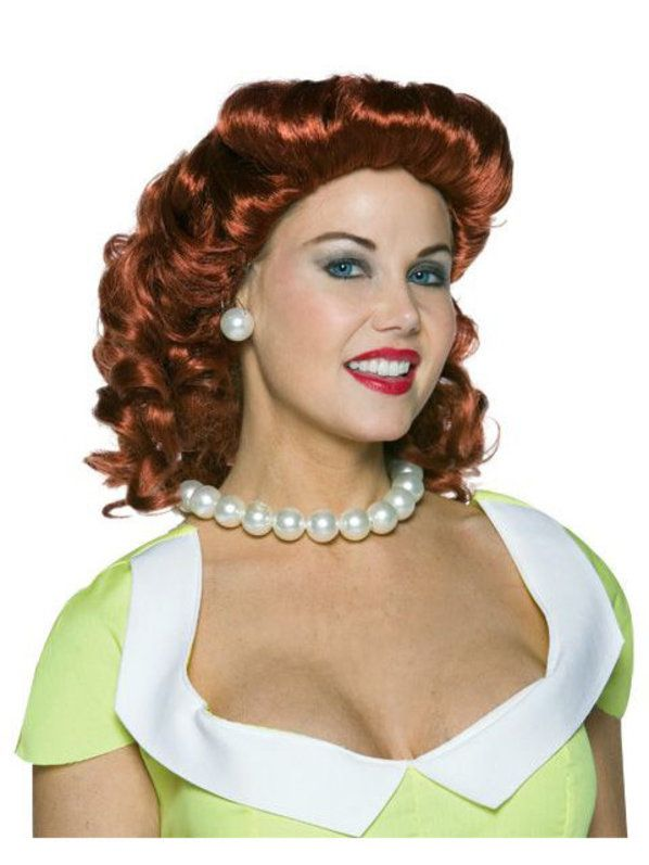 halloween vintage housewife red wig adult - Red Wigs For Halloween