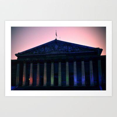 PARIS Assemblee Nationale monument Art Print by WAMTEES - $17.68