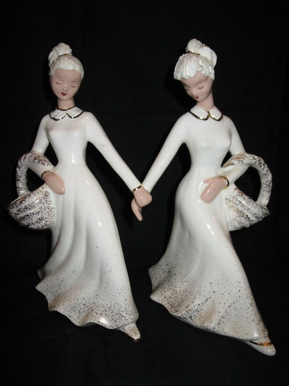 Exquisite Pair of HEDI SCHOOP Lady Spill Vases by ManyLongYearsAgo, $245.00