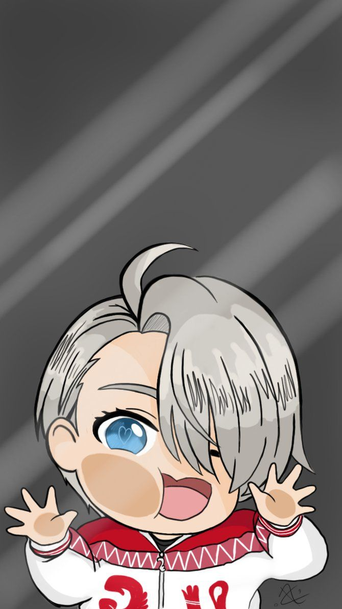 Yuri On Ice Victor Phone Wallpaper By Awttani Blue Yuri On Ice Anime Cute Anime Wallpaper