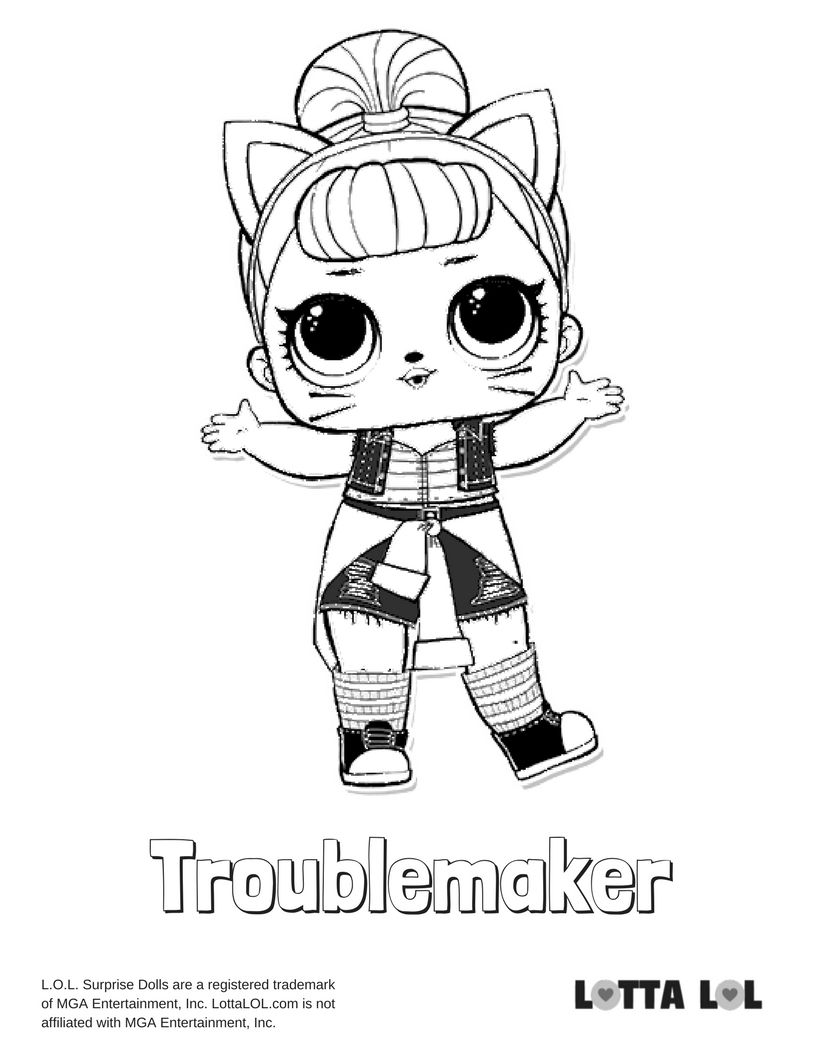 Troublemaker Coloring Page Lotta