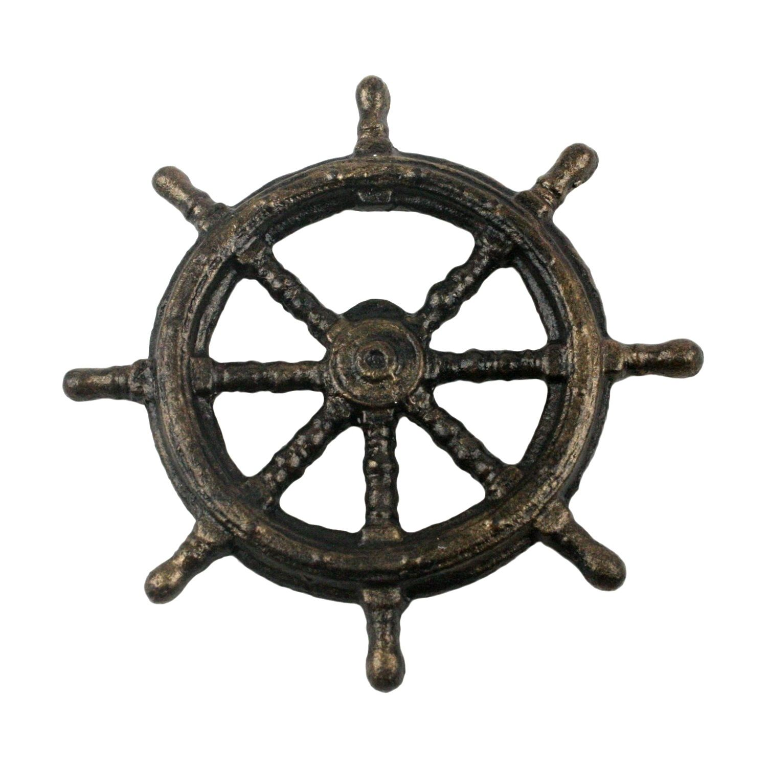 Hand painted cast iron ship s wheel bottle opener 4