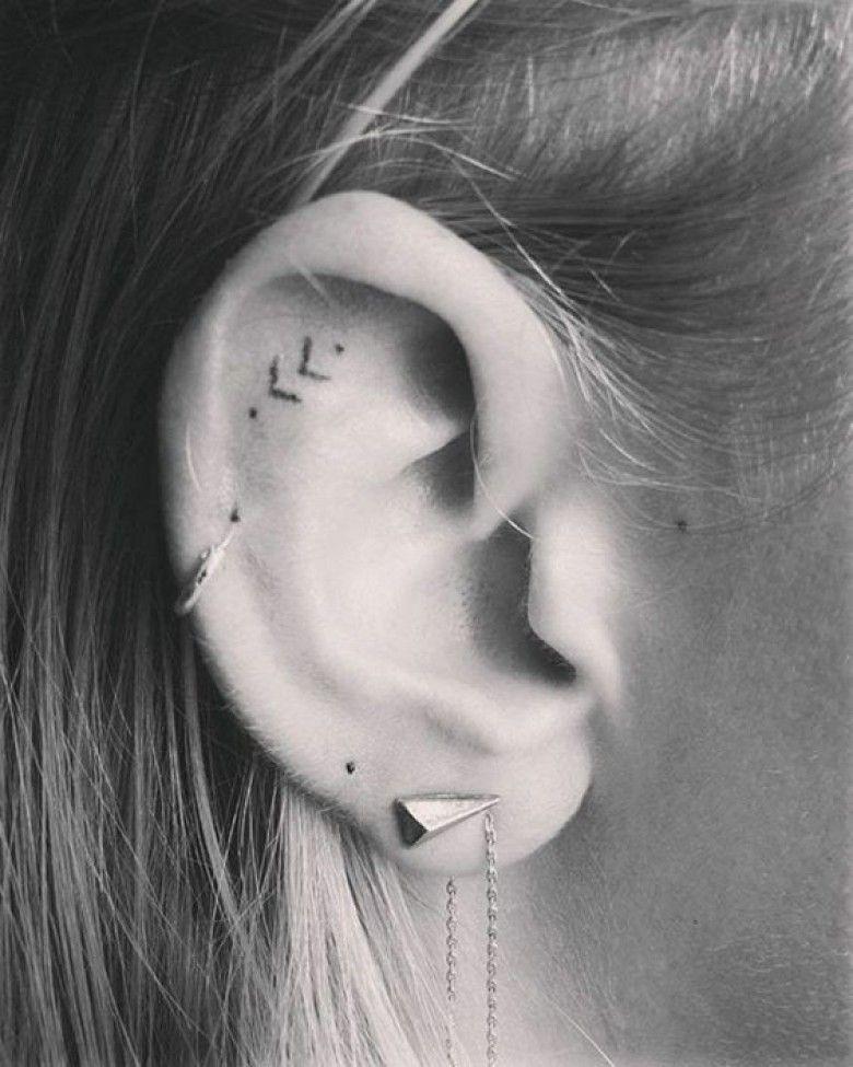 20 sublimes tatouages à réaliser derrière son oreille | tattoo