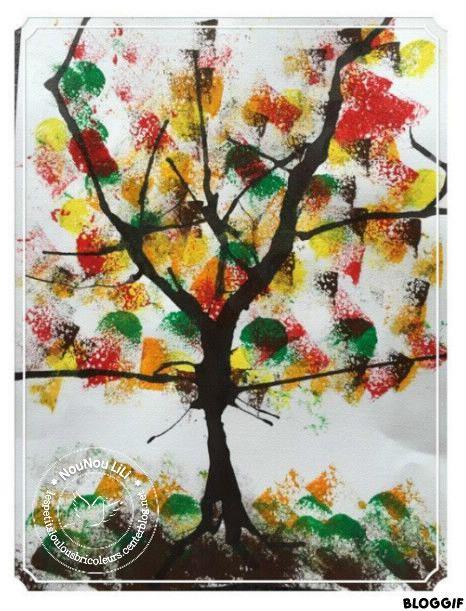 Bien connu ARBRE D'AUTOMNE DIY peinture et encre DIY activité manuelle  XY05