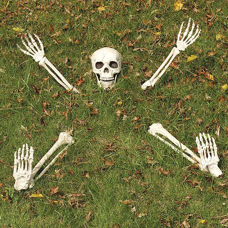 Review Yikes in the Yard Buried Lawn Skeleton Outdoor Halloween