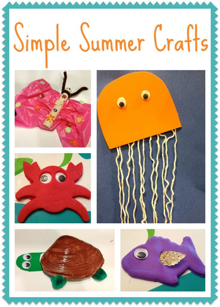 5 Simple Summer Crafts For Kids Summer Crafts Crafts And Summer
